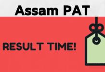 Assam PAT Result & Merit List