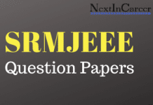 SRMJEEE Question Papers