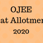 OJEE Seat Allotment 2020