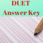 DUET Answer Key