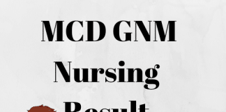 MCD GNM Nursing Result