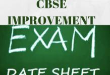 CBSE Improvement Exam Date-sheet
