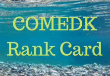 COMEDK Rank Card