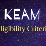 KEAM Eligibility Criteria