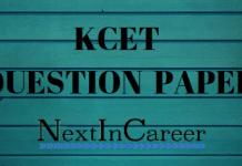 KCET Question Paper