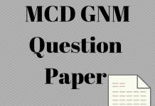 MCD GNM Question Paper