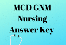 MCD GNM Nursing Answer Key