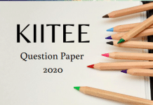 KIITEE Question Paper 2020