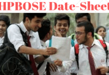 HPBOSE Date sheet