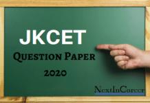 JKCET Question Paper 2020