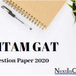 GITAM GAT Question Paper 2020