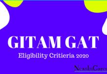 GITAM GAT Eligibility Critieria 2020