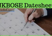 JKBOSE Date sheet
