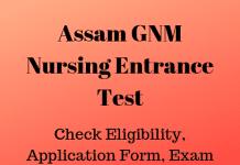 Assam GNM Nursing Entrance Test