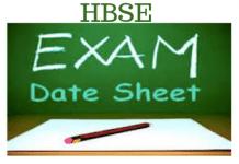 HBSE Datesheet