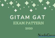 GITAM GAT Exam Pattern 2020