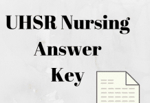 UHSR Nursing Answer Key