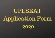 UPESEAT Application Form
