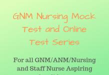 GNM Nursing Mock Test