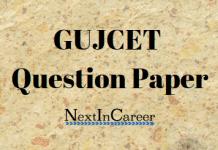 GUJCET Question Paper