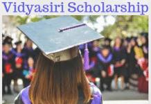 Vidyasiri Scholarship Karnataka