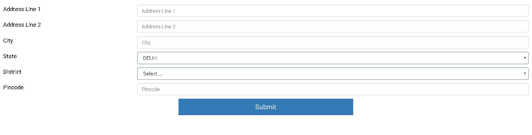 IGNOU Application Form Address Details