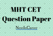 MHT CET Question Paper