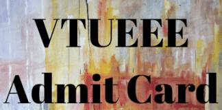 VTUEEE Admit Card