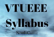 VTUEEE Syllabus