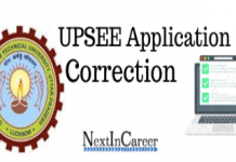 UPSEE Application Form Correction