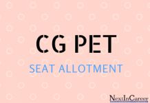 CGPET Seat Allotment
