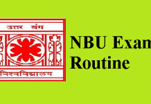 NBU Exam Routine
