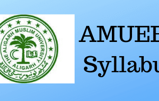 AMUEEE Syllabus
