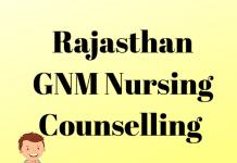 Rajasthan GNM Nursing Counselling