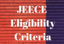 JEECE Eligibility Criteria