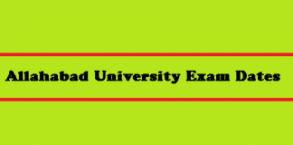 Allahabad University Exam Dates