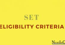 SET Eligibility Criteria