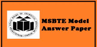 MSBTE Model Answer Paper