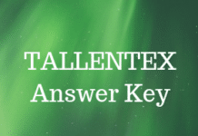 TALLENTEX Answer Key