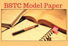 BSTC Model Paper