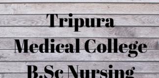 Tripura Medical College B.Sc Nursing Result