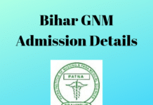 Bihar GNM Admission Details