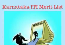 Karnataka ITI Merit List