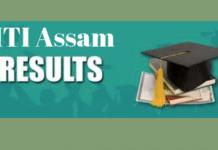 ITI Assam Result