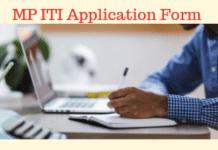 MP ITI Application Form