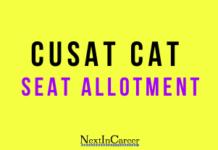 CUSAT CAT Seat Allotment