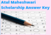 Atul Maheshwari Scholarship Answer Key