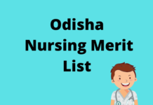 Odisha Nursing Merit List