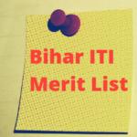 Bihar ITI Merit List