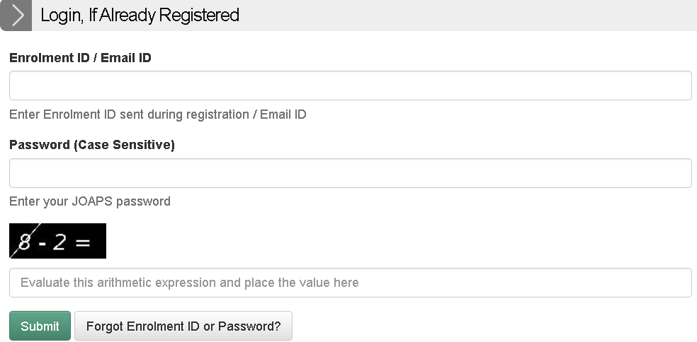 IIT JAM Admit Card Login Section